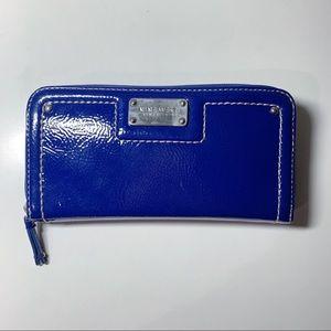 Nine West Patent Blue Wallet